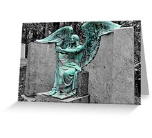 The Weeping Angel {Haserot family plot} Greeting Card