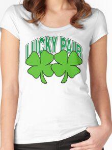Lucky Shamrocks Women's Fitted Scoop T-Shirt