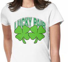 Lucky Shamrocks Womens Fitted T-Shirt