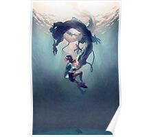 Spirited away Haku and Chihuro Poster