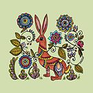 Folk Rabbit by Kayleigh Walmsley