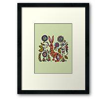Folk Rabbit Framed Print