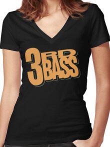 3rd Bass Logo Women's Fitted V-Neck T-Shirt
