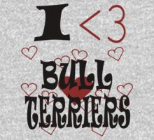 I <3 Bull Terriers One Piece - Short Sleeve