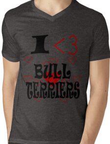 I <3 Bull Terriers Mens V-Neck T-Shirt