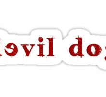 Devil Dog - Red Sticker