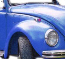 The Bigger Blue Beetle Bug Sticker