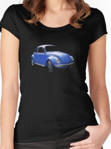 The Bigger Blue Beetle Bug Women's Fitted Scoop T-Shirt