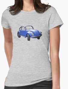 The Bigger Blue Beetle Bug Womens Fitted T-Shirt