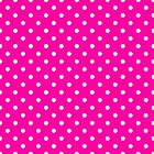 Polka Dots Pink and White by Medusa81