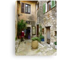 Faded Splendour in Eze 1 Canvas Print