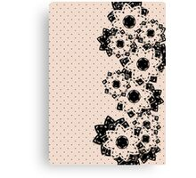 Polka Dots and Flowers Canvas Print
