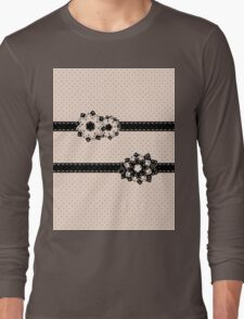 Polka Dots and Flowers Long Sleeve T-Shirt
