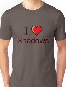 i love shadows heart  Unisex T-Shirt
