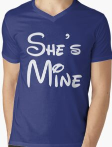 She's Mine Mens V-Neck T-Shirt