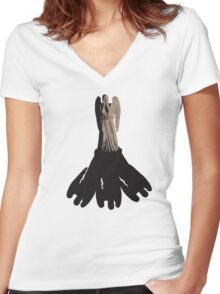 weeping angel meets vashta nerada Women's Fitted V-Neck T-Shirt
