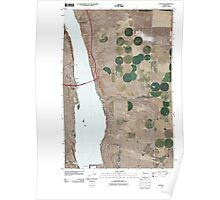 USGS Topo Map Washington State WA Vantage 20110407 TM Poster