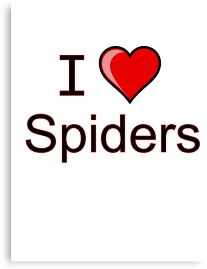 i love spiders heart by Tia Knight