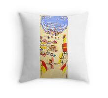 Between the flags Throw Pillow