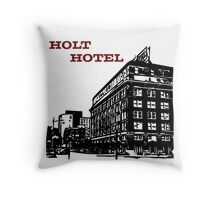 Holt Hotel/Kemp & Kell Building Vector Art Throw Pillow