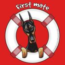 Doberman Pinscher :: First Mate by offleashart