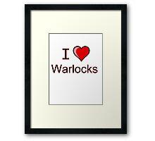 i love warlocks heart  Framed Print