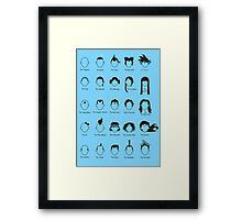 Hero Hair Framed Print