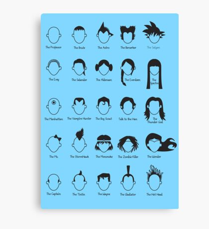 Hero Hair Canvas Print
