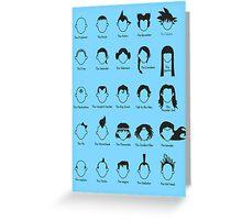 Hero Hair Greeting Card
