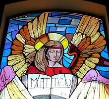 Matteo .. in Stained Glass by Trish Meyer