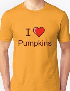 I love pumpkins Halloween  Unisex T-Shirt