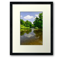 The River Wye Downstream, at Upperdale  Framed Print