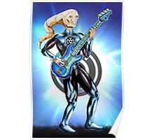 Blue Lantern - Bass Guitar Poster