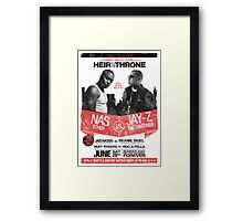 Jay-Z vs Nas - Heir to the Throne Framed Print