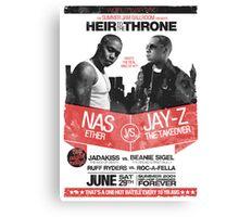 Jay-Z vs Nas - Heir to the Throne Canvas Print
