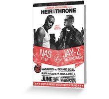 Jay-Z vs Nas - Heir to the Throne Greeting Card