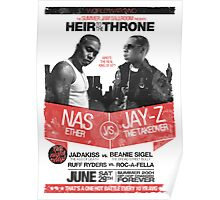 Jay-Z vs Nas - Heir to the Throne Poster