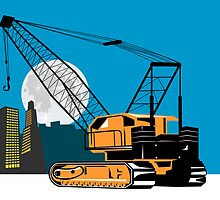Construction Crane Hoist Retro by patrimonio