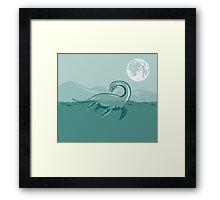 Loch Ness Monster Retro Framed Print