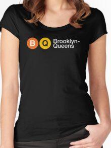 """3rd Bass """"Brooklyn Queens"""" Women's Fitted Scoop T-Shirt"""
