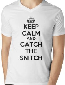 Keep Calm and Catch the Snitch Mens V-Neck T-Shirt