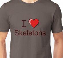 I love Halloween skeletons  Unisex T-Shirt
