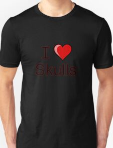 I love Halloween Skulls  T-Shirt