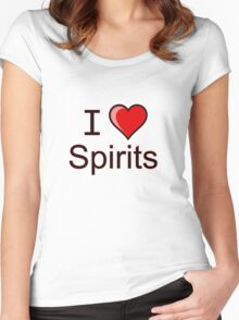 I love spirits Halloween  Women's Fitted Scoop T-Shirt