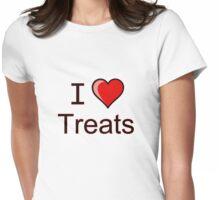 I love Halloween treats  Womens Fitted T-Shirt
