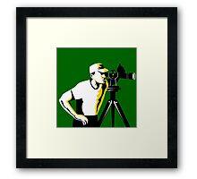Surveyor Geodetic Engineer Survey Retro Framed Print