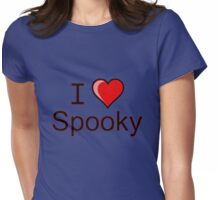 I love Halloween Spooky  Womens Fitted T-Shirt