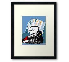 Vintage Steam Train Locomotive Retro Framed Print