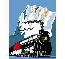 Vintage Steam Train Locomotive Retro Photographic Print