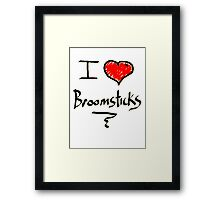 I love Halloween Broomsticks  Witches  Framed Print